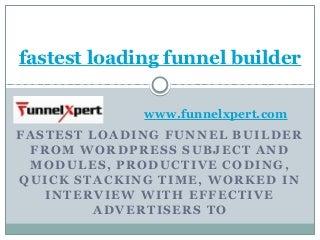 Fastest loading funnel builder pdf