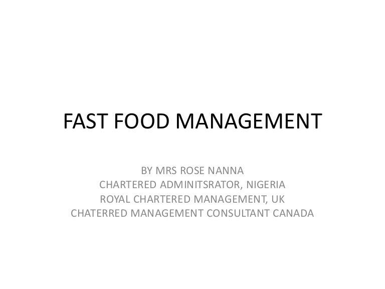 Fast food management presentation