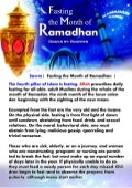 Fasting The Month Of Ramadhan