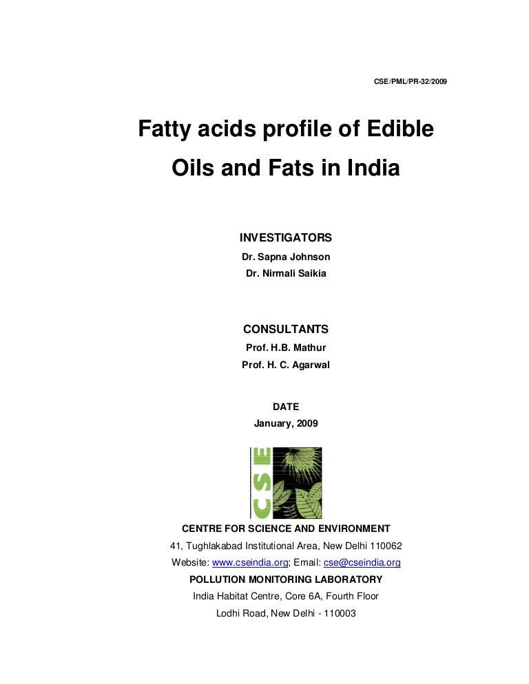 Fatty acids profile