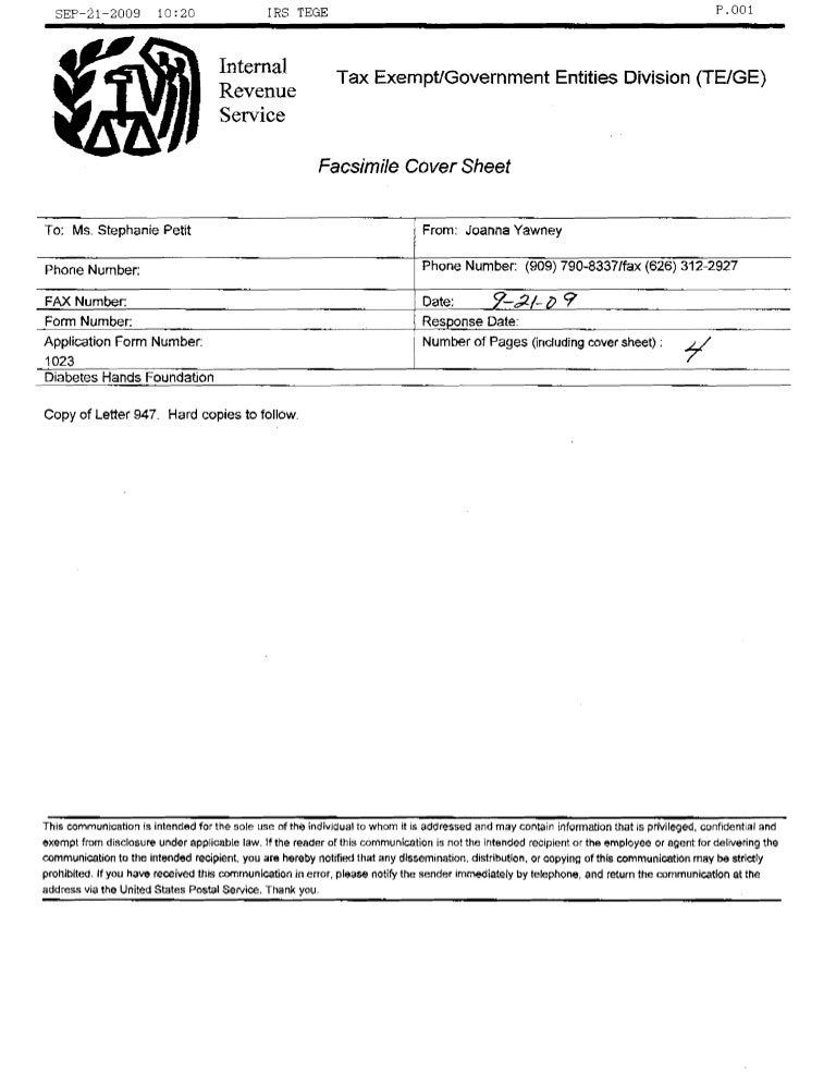 fax cover page form