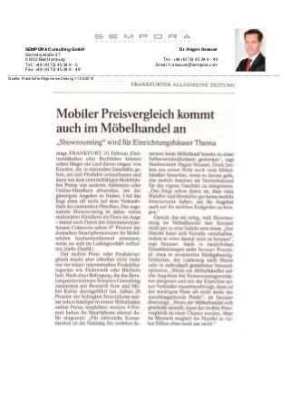 Mobiler Preisvergleich im Möbelhandel - Hagen Sexauer