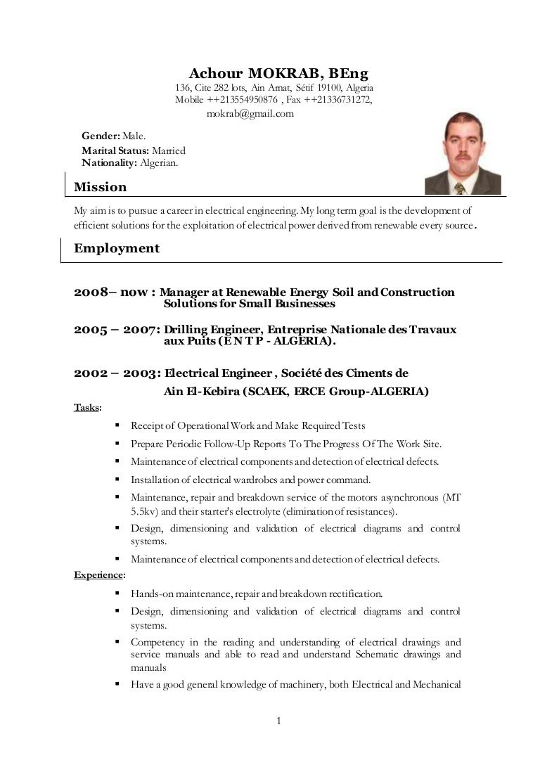 Mokrab Achour Cv2016 Read An Electrical Drawing Basics Of Engineering