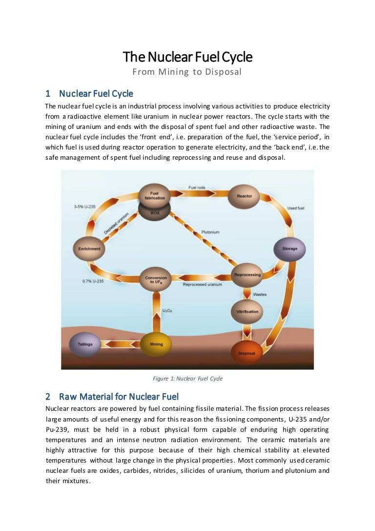 Nuclear Fuel Cycle Power Plant Diagram Ppt