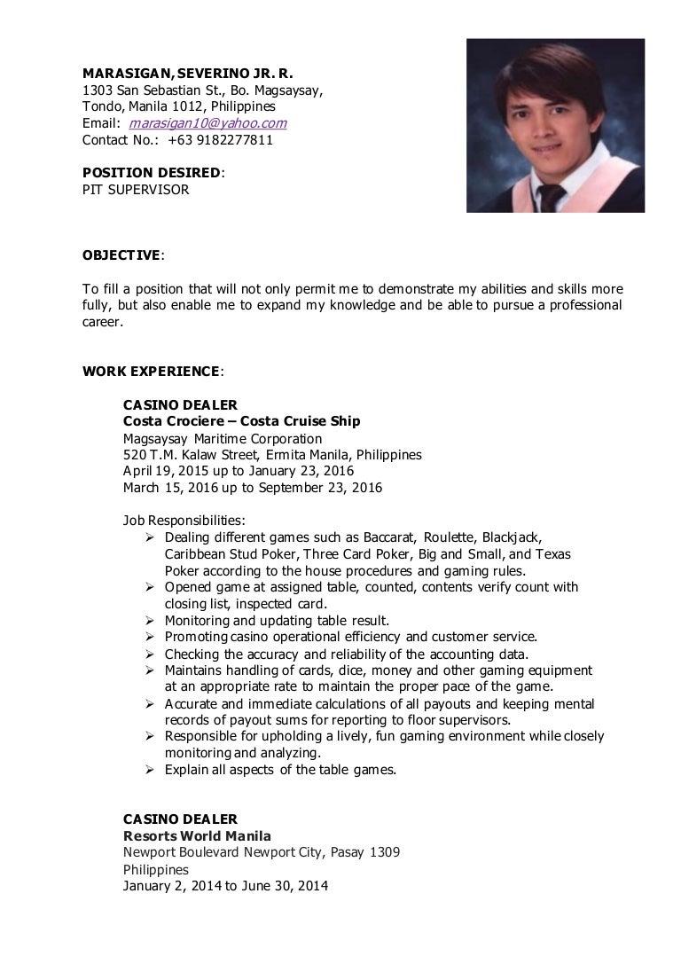 resume gaming dealers resume recreational therapist resume
