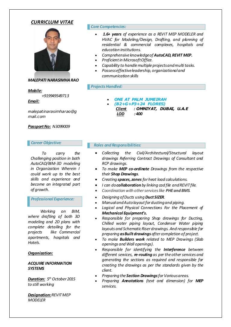Vizag Revit Resume