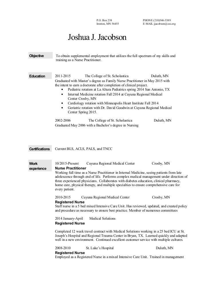Joshua James Resume
