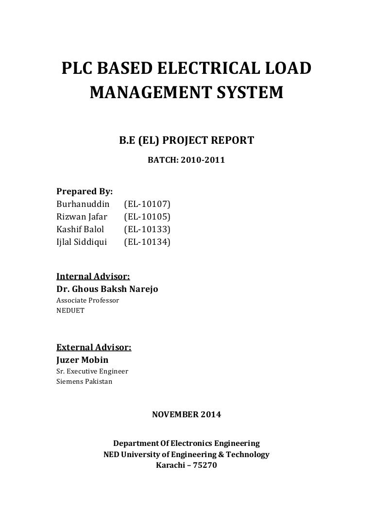 Report Plc Based Electrical Load Management System Hardware Wiring Diagram