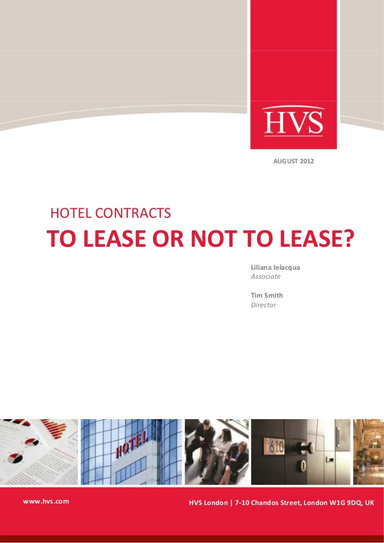 hvs hotel contracts to lease or not to lease