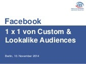 Facebook: 1 x 1 der Custom Audiences und Lookalike Audiences