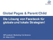 Facebook Marketing | Global Pages & Parent Child - Die Lösung von Facebook für globale und lokale Strategien