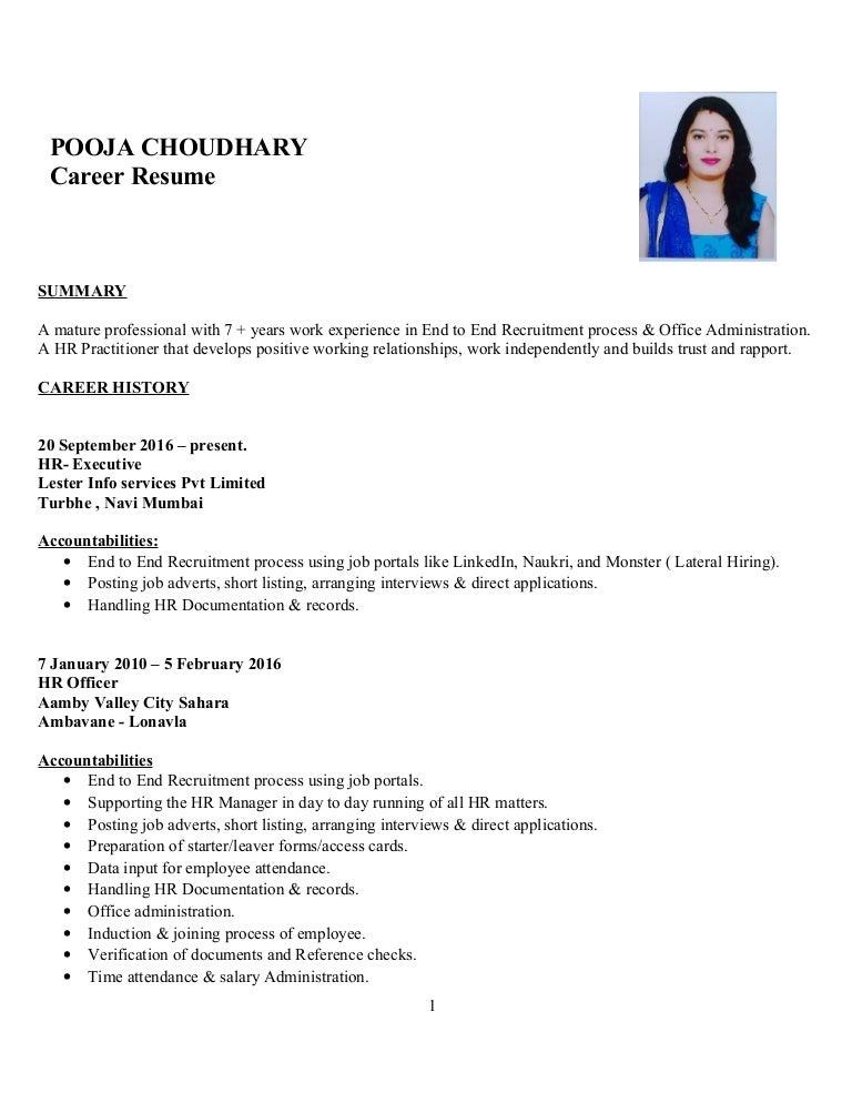 Executive Resume Blog  Hr Executive Resume