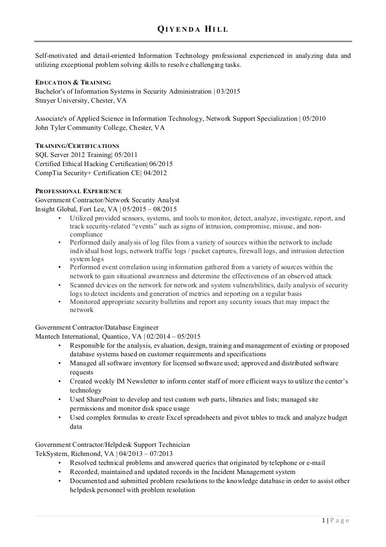 qiyenda a hill resume linkedin