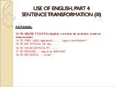 Fce, use of english verb patterns (iii)