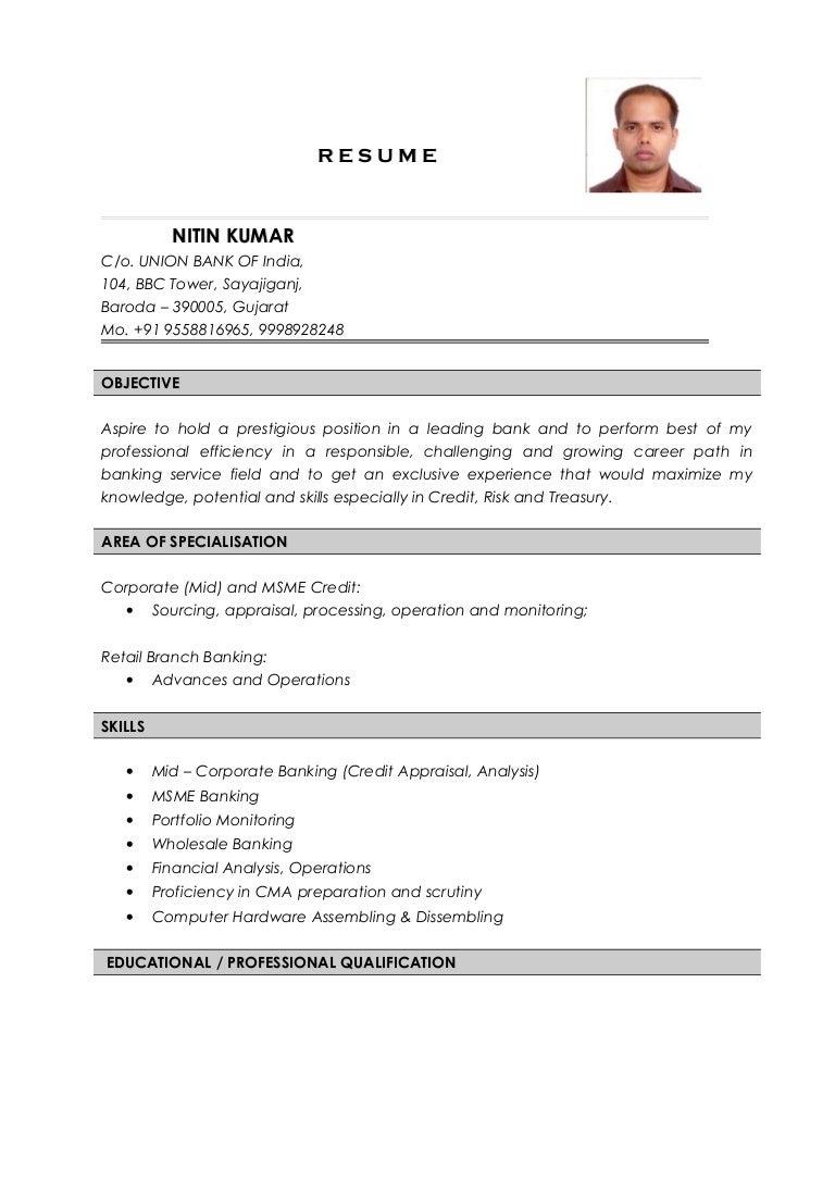 Nitin Kumar Resume Credit Analyst