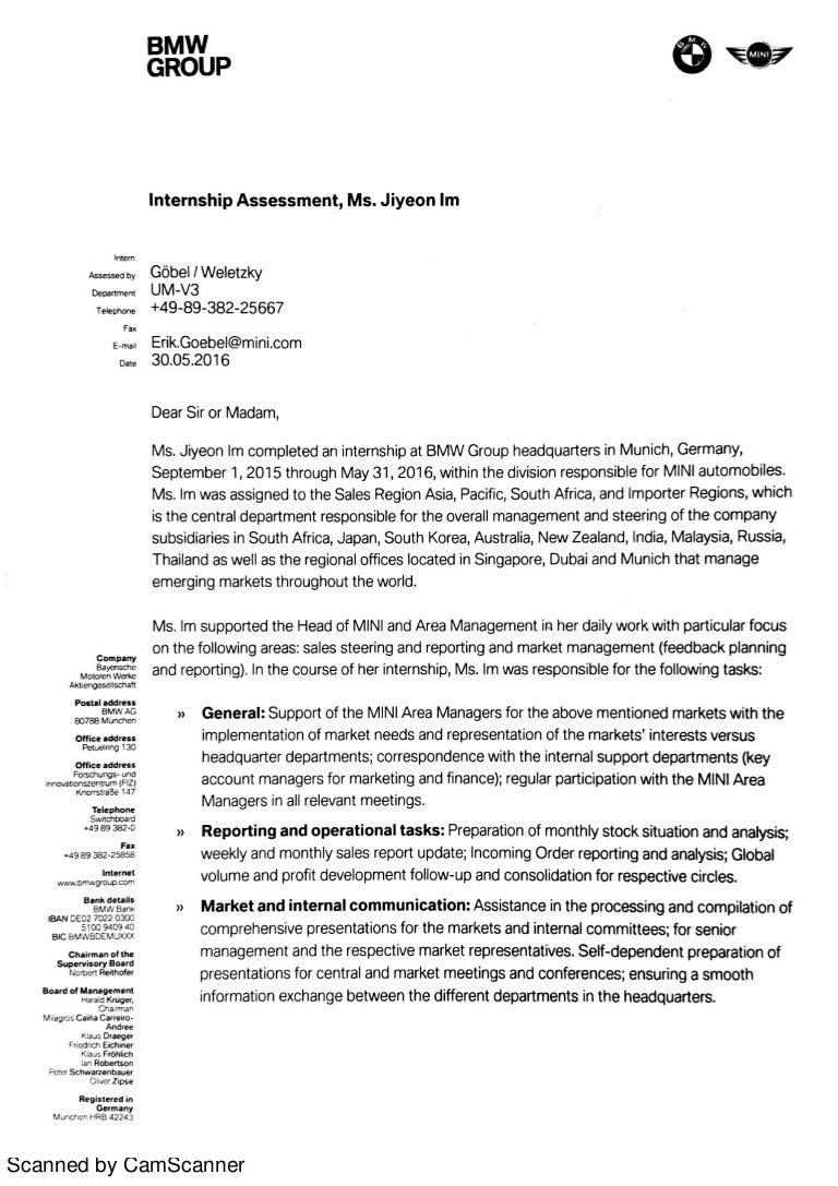Bmw Internship Assessment
