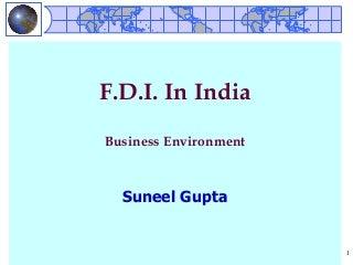 Fdi Of India
