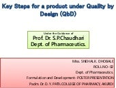 F & d poster key steps for a product under qb d
