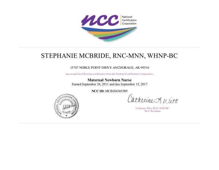 ncc certification