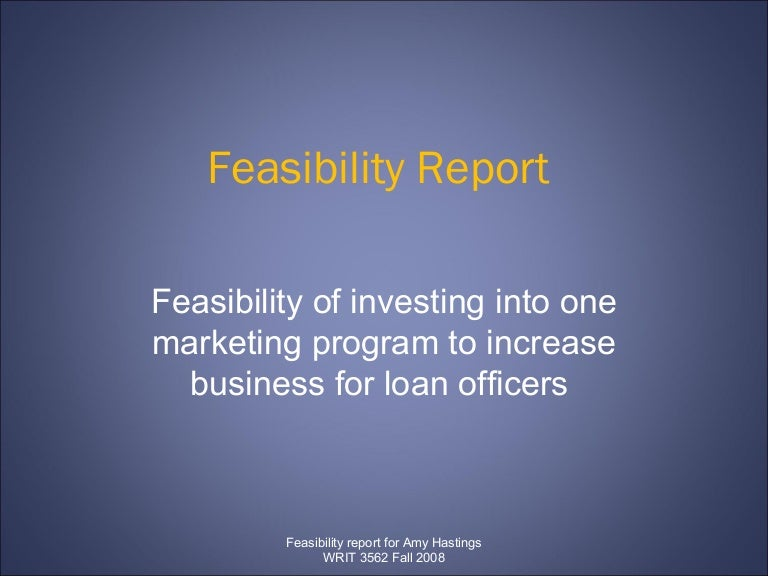 feasibility report on artificial hair business Feasibility report, defined a feasibility report is basically an analysis of a specific idea, and it is used to make informed decisions instead of just jumping in it examines how effective a specific plan or project will be, but its main characteristic is in its ability to analyze how efficient the idea will be as well.