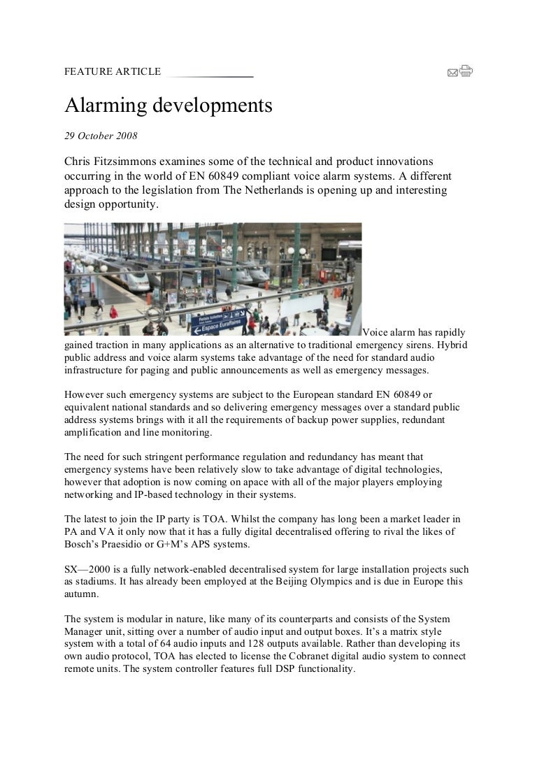 Feature Article Bosch Praesideo