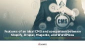 Features of an ideal cms and comparison between shopify, drupal, magento, and word press v2.2