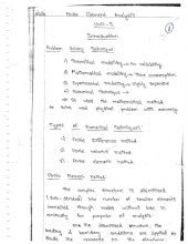 ME6603 - FINITE ELEMENT ANALYSIS UNIT - I NOTES AND QUESTION BANK