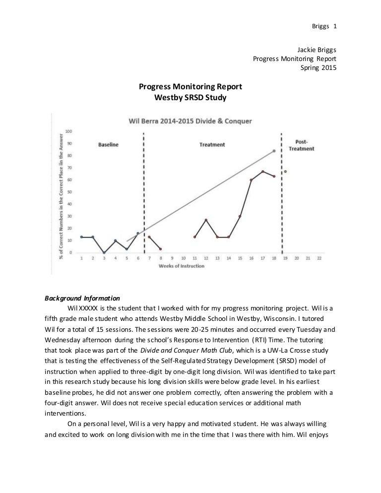 Progress Monitoring Project Briggs