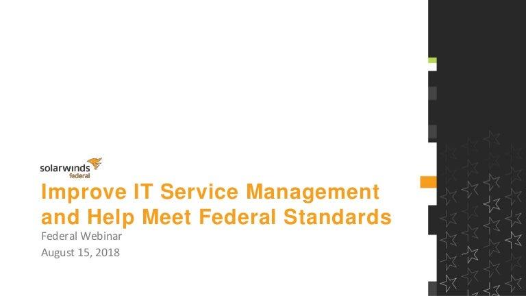 Federal Webinar: Improve IT Service Management and help meet
