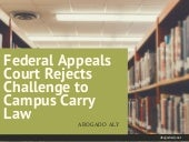 Federal Appeals Court Rejects Challenge to Campus Carry Law | Abogado Aly
