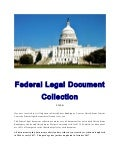 Federal legal document collection