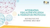Integrating FIDO Authentication & Federation Protocols