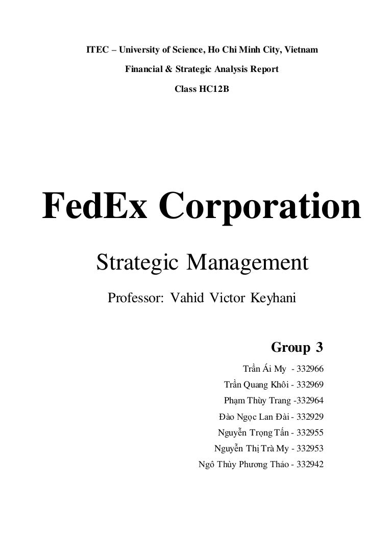 Fed Ex Strategic Management