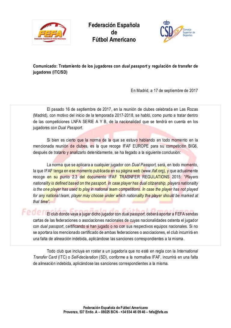FEFA Comunicado dual imports + itc sd 90ee5a89c86