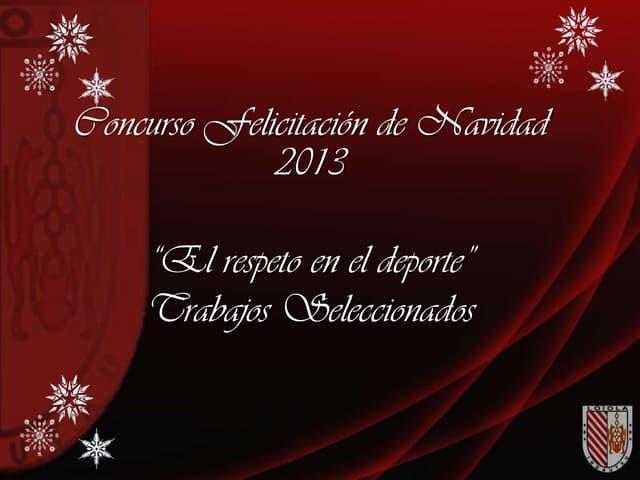 Concurso Felicitación 2013 - Loiola Indautxu Fútbol