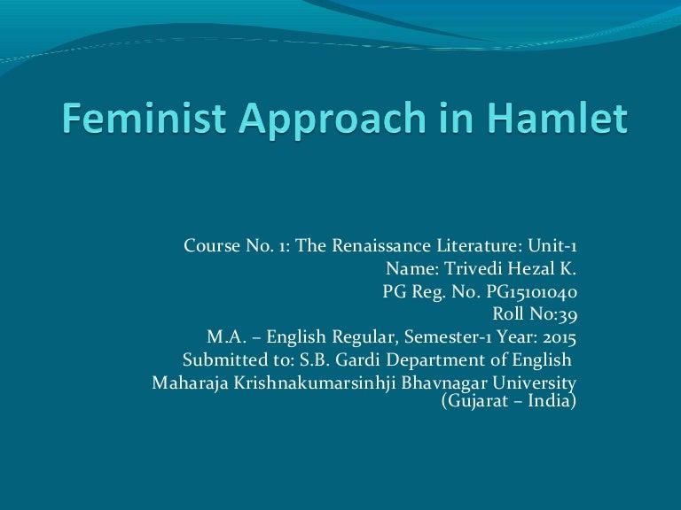 Hamlet essay feminism