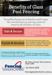 Benefits of Glass Pool Fencing