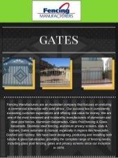 Fencing manufacturers - Gates