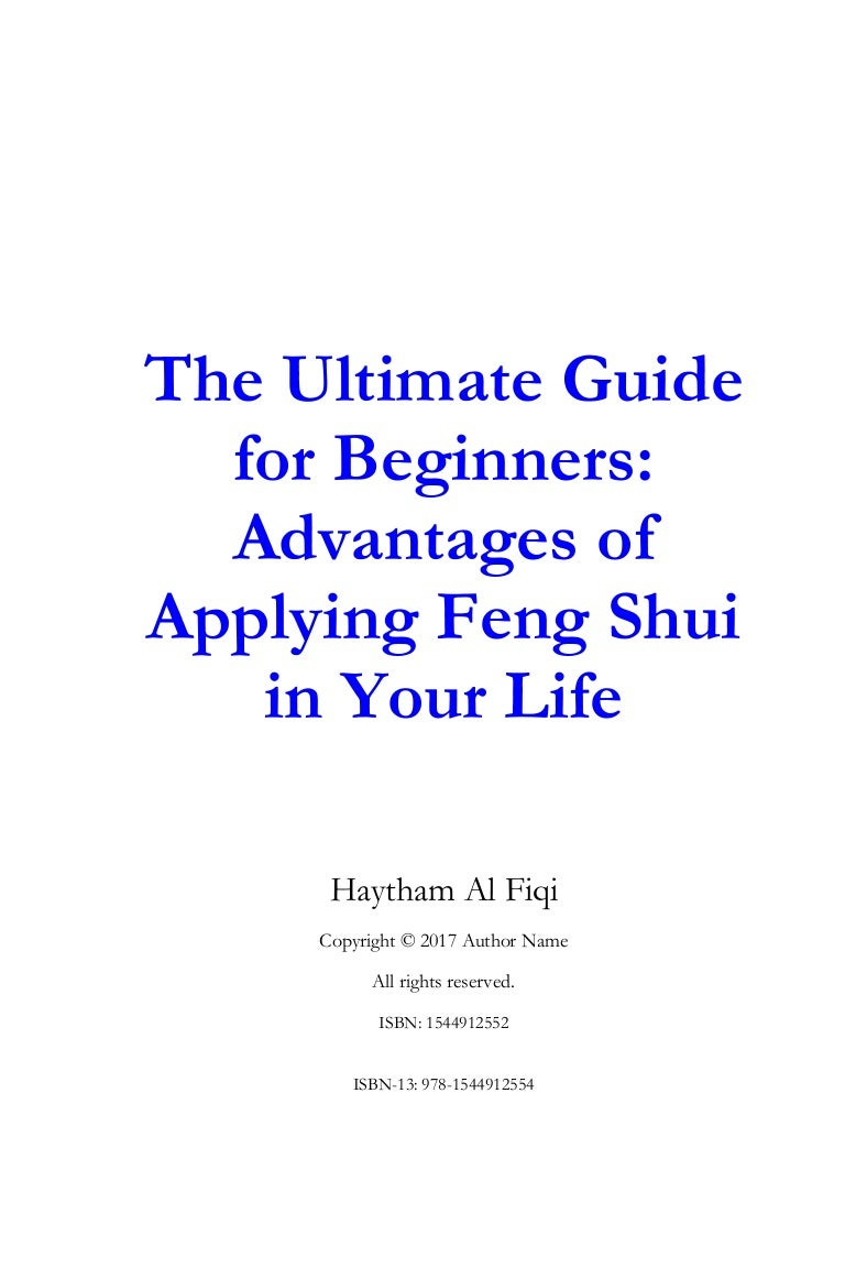 The organization of the workplace according to the rules of Feng Shui