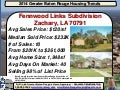 Fennwood Links Subdivision Zachary Louisiana 70791 Home Sales 2014