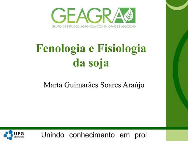 Fenologia e Fisiologia da soja