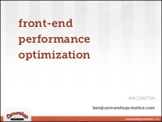 Front-End Performance Optimization in WordPress