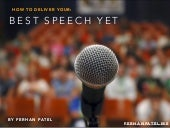 Give Your Best Speech Yet