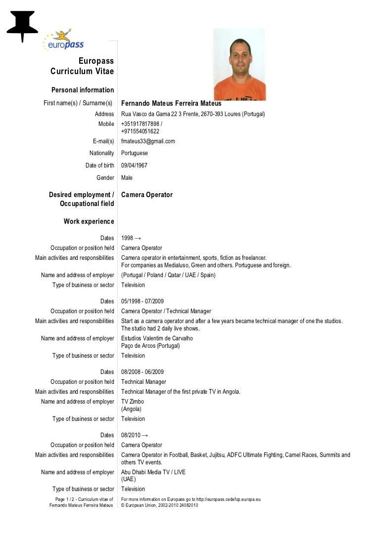 Lebenslauf Darjan Jona Page 1 5 Persnliche Informationen Darjan Jona