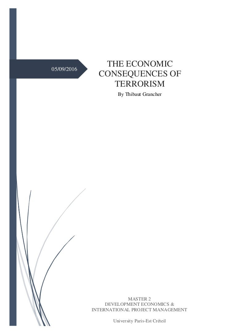 Master thesis political economy
