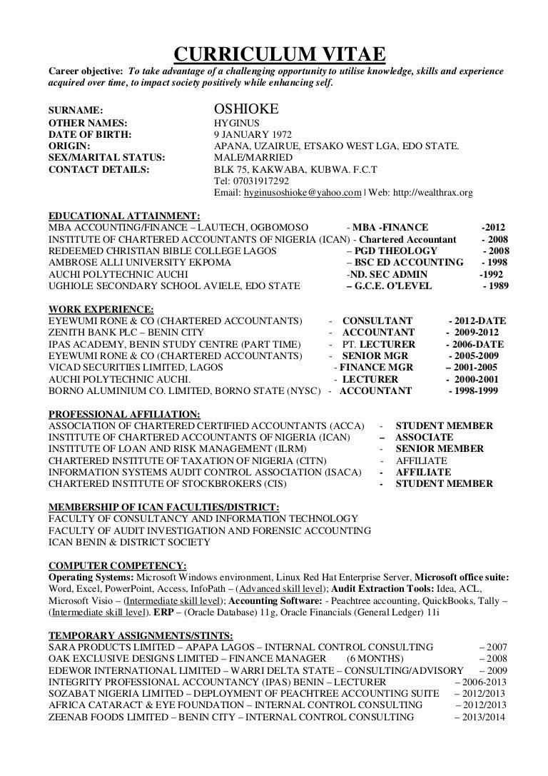 Ziemlich Forensic Curriculum Vitae Ideen - Entry Level Resume ...