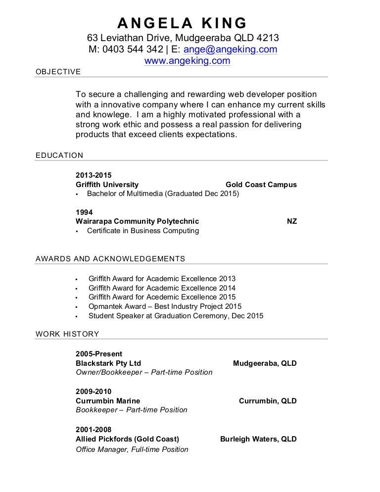 Angela King Resume 220116