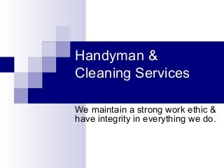 Handyman & Cleaning Power Point