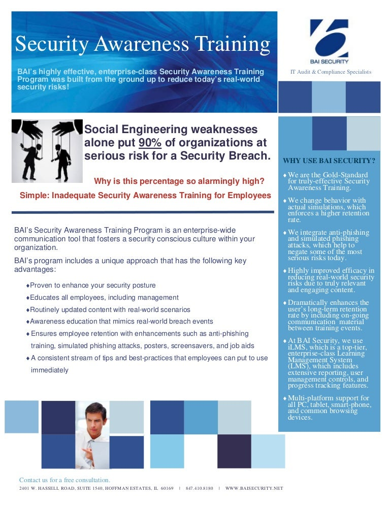 BAI Security - Brochure - Security Awareness Training