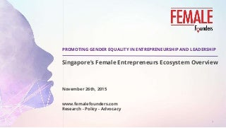 The Female Founders Singapore Startup Ecosystem Overview.